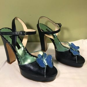 Marc Jacobs Blue Butterfly Heel Pumps sz 8M